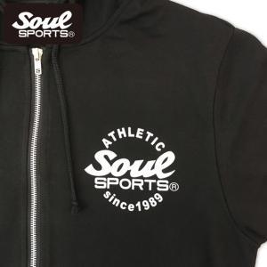 SOUL SPORTSオリジナル 集合ロゴジップパーカ ブラック 2018新作|soul-sports|06