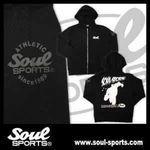SOUL SPORTSオリジナル アメコミ風ダッシュマンロゴジップパーカ ブラック 2018新作|soul-sports|02