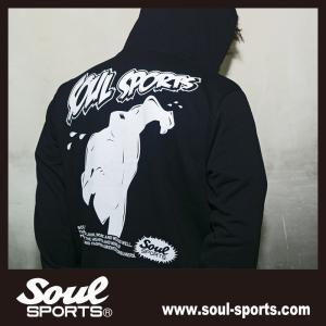SOUL SPORTSオリジナル アメコミ風ダッシュマンロゴジップパーカ ブラック 2018新作|soul-sports|09