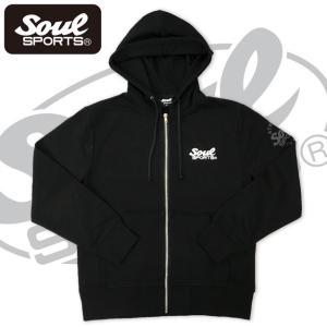 SOUL SPORTSオリジナル アメコミ風ダッシュマンロゴジップパーカ ブラック 2018新作|soul-sports|04