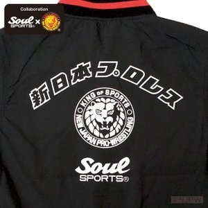 新日本プロレス×SOUL SPORTSコラボ クラシック新日ロゴライトスタジャン ブラック 2018新作 soul-sports 05