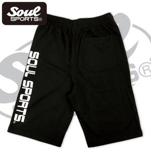 SOUL SPORTSオリジナル プリントロゴ スウェットパンツ(ショート丈) ブラック 2018新作|soul-sports|06