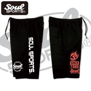 SOUL SPORTSオリジナル プリントロゴ スウェットパンツ(ショート丈) ブラック 2018新作|soul-sports|07