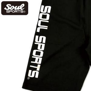 SOUL SPORTSオリジナル プリントロゴ スウェットパンツ(ショート丈) ブラック 2018新作|soul-sports|09
