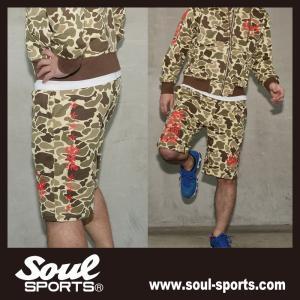 SOUL SPORTSオリジナル プリントロゴ スウェットパンツ(ショート丈) ダックハンターカモ総柄 2018新作 soul-sports 11