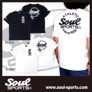 SOUL SPORTSオリジナル Sファイヤー3連ロゴ 半袖Tシャツ ブラック/ホワイト 2019新作|soul-sports