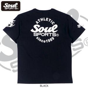 SOUL SPORTSオリジナル Sファイヤー3連ロゴ 半袖Tシャツ ブラック/ホワイト 2019新作|soul-sports|13