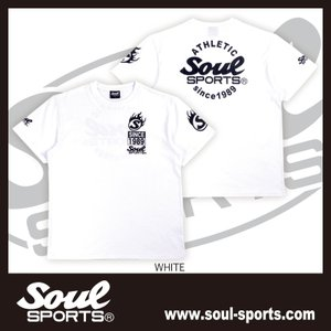 SOUL SPORTSオリジナル Sファイヤー3連ロゴ 半袖Tシャツ ブラック/ホワイト 2019新作|soul-sports|03