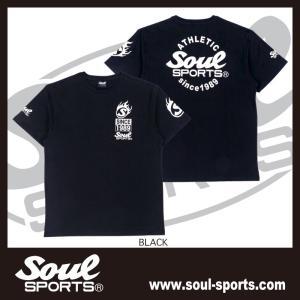 SOUL SPORTSオリジナル Sファイヤー3連ロゴ 半袖Tシャツ ブラック/ホワイト 2019新作|soul-sports|04