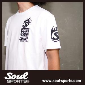 SOUL SPORTSオリジナル Sファイヤー3連ロゴ 半袖Tシャツ ブラック/ホワイト 2019新作|soul-sports|05
