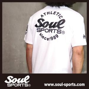 SOUL SPORTSオリジナル Sファイヤー3連ロゴ 半袖Tシャツ ブラック/ホワイト 2019新作|soul-sports|06