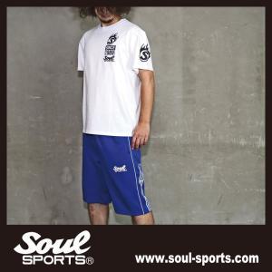 SOUL SPORTSオリジナル Sファイヤー3連ロゴ 半袖Tシャツ ブラック/ホワイト 2019新作|soul-sports|07