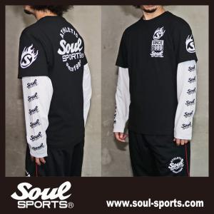 SOUL SPORTSオリジナル Sファイヤー3連ロゴ 半袖Tシャツ ブラック/ホワイト 2019新作|soul-sports|08