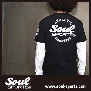 SOUL SPORTSオリジナル Sファイヤー3連ロゴ 半袖Tシャツ ブラック/ホワイト 2019新作|soul-sports|09