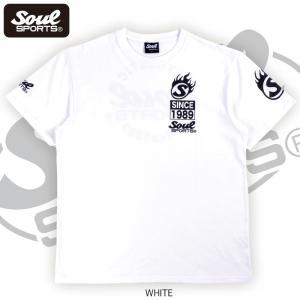 SOUL SPORTSオリジナル Sファイヤー3連ロゴ 半袖Tシャツ ブラック/ホワイト 2019新作|soul-sports|10