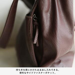 多収納ポケットトートバッグ レディース 鞄 フェイクレザー 合皮 バイカラー シンプル エディターズバッグ A4対応|soulberry|11
