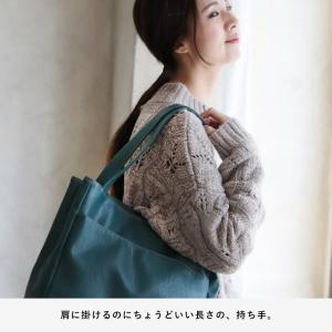 多収納ポケットトートバッグ レディース 鞄 フェイクレザー 合皮 バイカラー シンプル エディターズバッグ A4対応|soulberry|12
