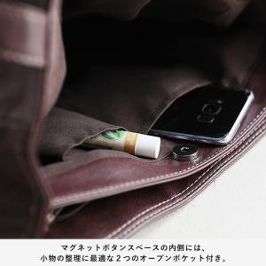 多収納ポケットトートバッグ レディース 鞄 フェイクレザー 合皮 バイカラー シンプル エディターズバッグ A4対応|soulberry|15