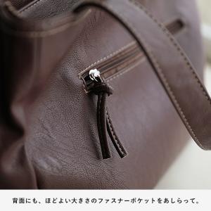 多収納ポケットトートバッグ レディース 鞄 フェイクレザー 合皮 バイカラー シンプル エディターズバッグ A4対応|soulberry|17
