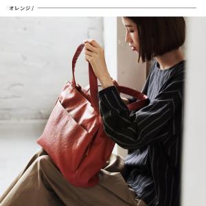 多収納ポケットトートバッグ レディース 鞄 フェイクレザー 合皮 バイカラー シンプル エディターズバッグ A4対応|soulberry|03