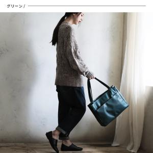 多収納ポケットトートバッグ レディース 鞄 フェイクレザー 合皮 バイカラー シンプル エディターズバッグ A4対応|soulberry|05