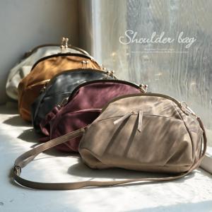 ショルダーバッグ レトロ がま口 レディース 鞄 斜め掛け 合皮 フェイクレザー ミニショルダー ポシェット|soulberry