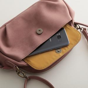 フラップポケットミニショルダーバッグ レディース 鞄 斜め掛け ポシェット 合皮 フェイクレザー soulberryオリジナル|soulberry|14