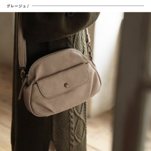 フラップポケットミニショルダーバッグ レディース 鞄 斜め掛け ポシェット 合皮 フェイクレザー soulberryオリジナル|soulberry|03
