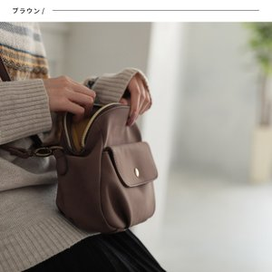 フラップポケットミニショルダーバッグ レディース 鞄 斜め掛け ポシェット 合皮 フェイクレザー soulberryオリジナル|soulberry|08