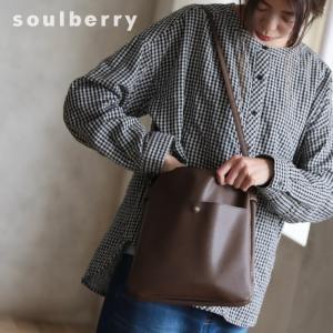 大人にすっきり映えるショルダーバッグ レディース 鞄 肩掛け 斜め掛け ポシェット 手提げ フェイクレザー 合皮 多収納 シンプル soulberryオリジナル|soulberry