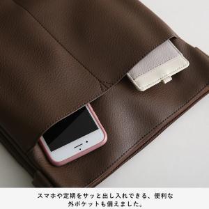 大人にすっきり映えるショルダーバッグ レディース 鞄 肩掛け 斜め掛け ポシェット 手提げ フェイクレザー 合皮 多収納 シンプル soulberryオリジナル|soulberry|13