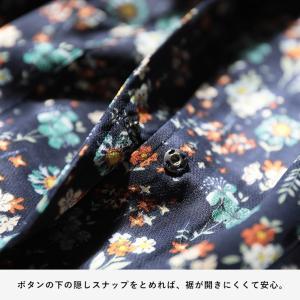 掘り出しバザール レトロな彩りで心地よく、花柄レインシャツカーディガン レディース 羽織り ロング レインウェア シャツ/お客様都合での返品交換不可 soulberry 14