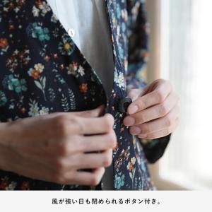 掘り出しバザール レトロな彩りで心地よく、花柄レインシャツカーディガン レディース 羽織り ロング レインウェア シャツ/お客様都合での返品交換不可 soulberry 17