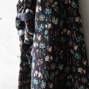 掘り出しバザール レトロな彩りで心地よく、花柄レインシャツカーディガン レディース 羽織り ロング レインウェア シャツ/お客様都合での返品交換不可 soulberry 06
