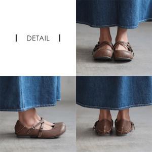 クロスストラップ2WAYシューズ レディース 靴 パンプス フェイクレザー 合皮  フラット ローヒール soulberryオリジナル|soulberry|13