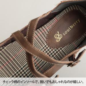 クロスストラップ2WAYシューズ レディース 靴 パンプス フェイクレザー 合皮  フラット ローヒール soulberryオリジナル|soulberry|15