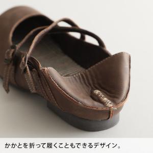 クロスストラップ2WAYシューズ レディース 靴 パンプス フェイクレザー 合皮  フラット ローヒール soulberryオリジナル|soulberry|16