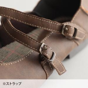 クロスストラップ2WAYシューズ レディース 靴 パンプス フェイクレザー 合皮  フラット ローヒール soulberryオリジナル|soulberry|18