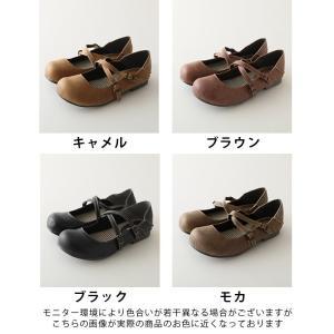 クロスストラップ2WAYシューズ レディース 靴 パンプス フェイクレザー 合皮  フラット ローヒール soulberryオリジナル|soulberry|20