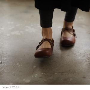 クロスストラップ2WAYシューズ レディース 靴 パンプス フェイクレザー 合皮  フラット ローヒール soulberryオリジナル|soulberry|05
