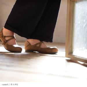 クロスストラップ2WAYシューズ レディース 靴 パンプス フェイクレザー 合皮  フラット ローヒール soulberryオリジナル|soulberry|09