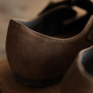 暮らしに溶け込む、やさしい味わいのコンフォートシューズ レディース 靴 フラット ぺたんこ フェイクスエード 切り替え 異素材 ベルト soulberryオリジナル|soulberry|17