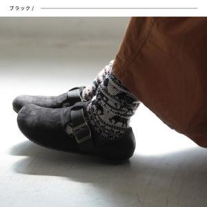 暮らしに溶け込む、やさしい味わいのコンフォートシューズ レディース 靴 フラット ぺたんこ フェイクスエード 切り替え 異素材 ベルト soulberryオリジナル|soulberry|04