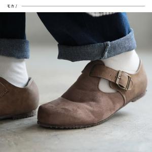 暮らしに溶け込む、やさしい味わいのコンフォートシューズ レディース 靴 フラット ぺたんこ フェイクスエード 切り替え 異素材 ベルト soulberryオリジナル|soulberry|06