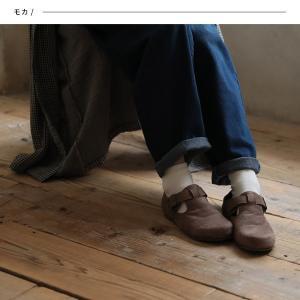 暮らしに溶け込む、やさしい味わいのコンフォートシューズ レディース 靴 フラット ぺたんこ フェイクスエード 切り替え 異素材 ベルト soulberryオリジナル|soulberry|07
