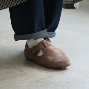 暮らしに溶け込む、やさしい味わいのコンフォートシューズ レディース 靴 フラット ぺたんこ フェイクスエード 切り替え 異素材 ベルト soulberryオリジナル|soulberry|08