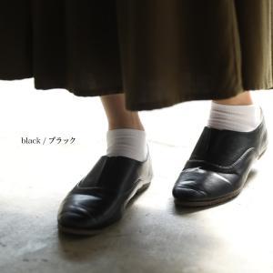 フラットシューズ フェイクレザー スリッポン レディース 靴 ぺたんこ オックスフォード風 合皮 soulberryオリジナル soulberry 13
