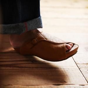 大人っぽく味わうサボサンダル レディース シューズ 靴 ぺたんこ フラット フェイクレザー 合皮 つっかけ soulberryオリジナル|soulberry|03