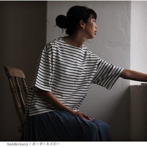 Tシャツ レディース カットソー プルオーバー 綿 コットン 半袖 五分袖 5分袖 トップス soulberryオリジナル|soulberry|13