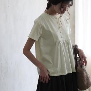 まるでTシャツのように着れるふんわりブラウス レディース 半袖 カットソー 綿 コットン フレア|soulberry